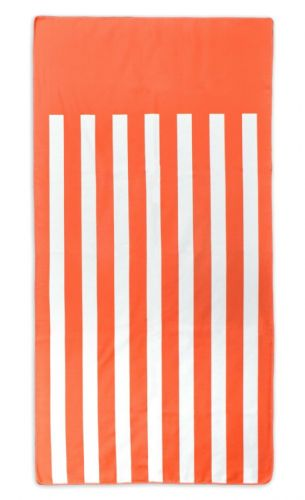 Microfibre Lightweight Beach Towel For Holiday Travel Camping Yoga Gym 70x140cm Orange Stripes